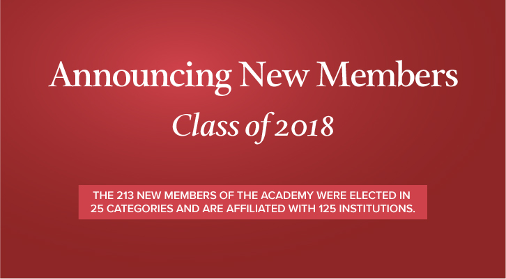 Announcing New Members Class of 2018