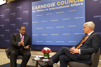 Randall Pinkston interviews Scott Sagan (Stanford University) for the Carnegie Council for International Affairs' Global Ethics Forum TV program. The episode will air in late summer 2017.