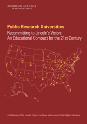 Public Research Universities: Recommitting to Lincoln's Vision—An Educational Compact for the 21st Century