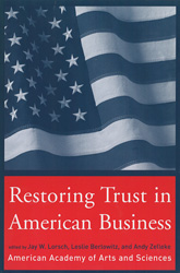 Book Cover Restoring Trust in American Business