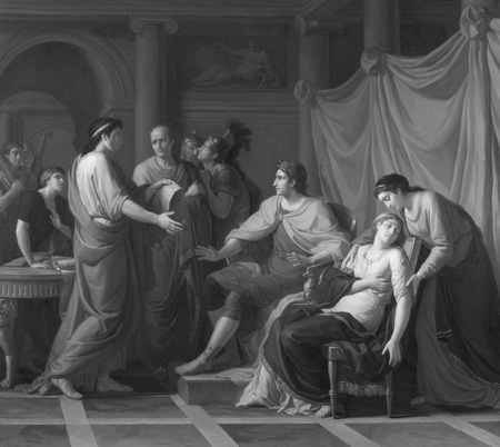Jean-Joseph Taillasson (France, 1745–1809), Virgil Reading the Aeneid to Augustus and Octavia (1787)