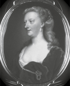 Figure 5: A miniature portrait of Mary Delany, one of four portraits in a friendship box, by Christian Friedrich Zincke, c. 1740. Image courtesy of the National Portrait Gallery, London.