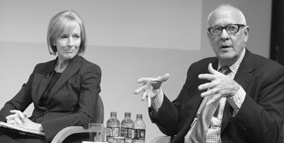 Picture of Judy Woodruff and Alex Jones