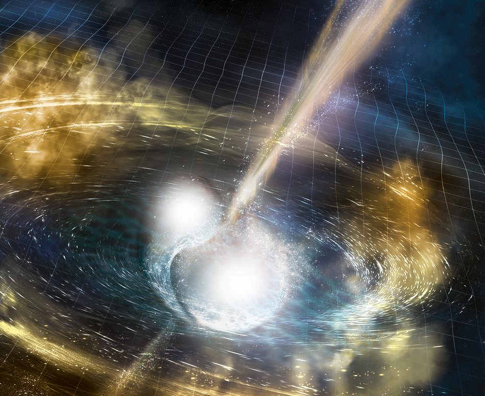 Gravitational Waves Erupt from Two Colliding Neutron Stars