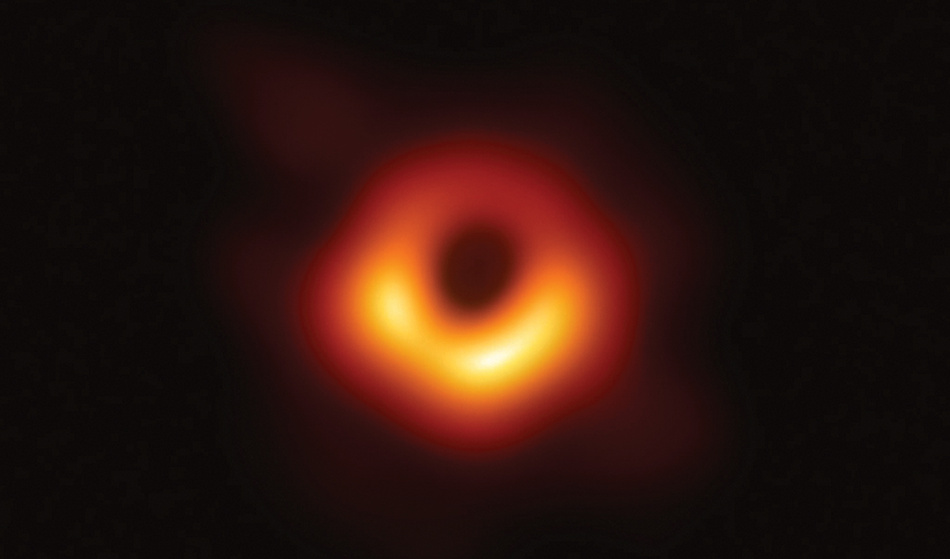 First Image of a Black Hole at the Center of Galaxy M87