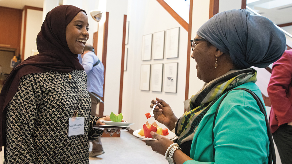 Sagal Abdirahman (left) and Habon Abdulle (right)