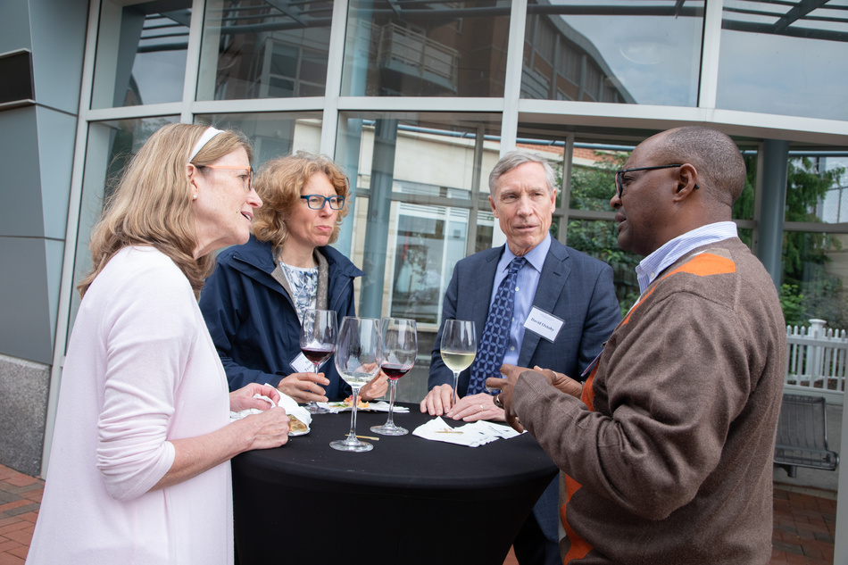 Left to right: Annette Huber-Lee (Stockholm Environment Institute), Sylvia Tramberend (International Institute for Applied Systems Analysis), David Oxtoby (American Academy), and Muchapara Musemwa (University of Witwatersrand, Johannesburg)