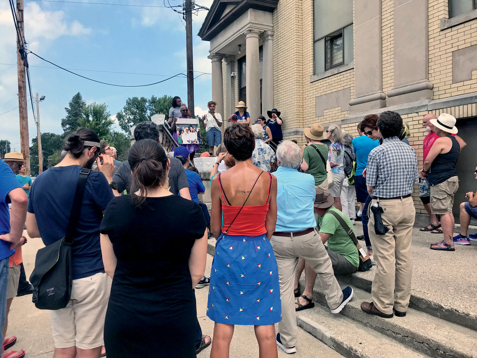 After the removal of two Confederate statues from the Cheapside town square in Lexington, KY, in 2018, the Blue Grass Community Foundation, the Knight Foundation, and Take Back Cheapside organized (Re)Imagining Cheapside Public Storytelling walks to shed light on the full history of the community and promote discussion.