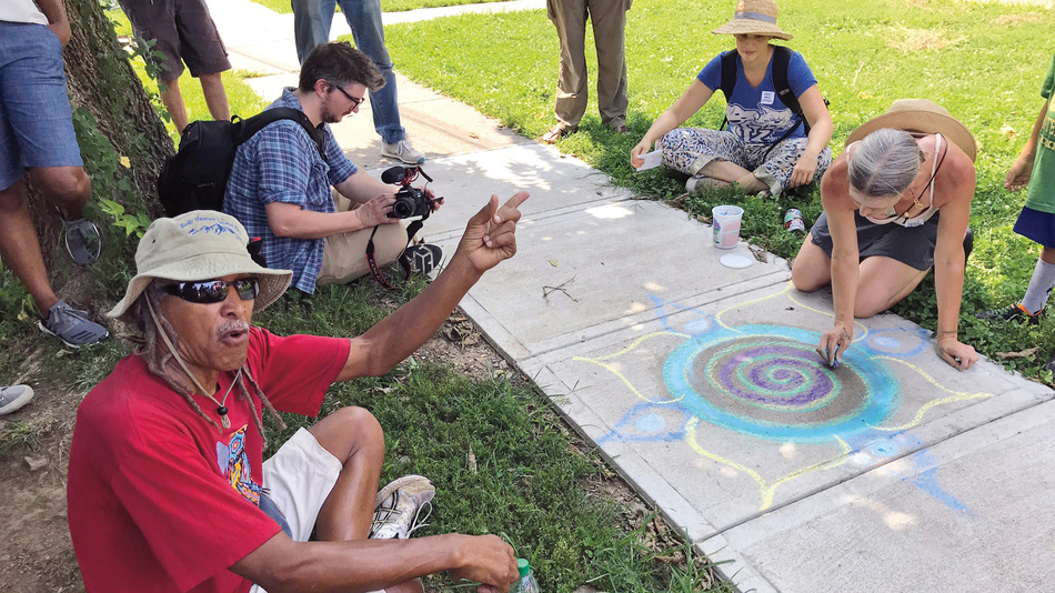 Communities around the country are exploring ways to strengthen Americans' commitment to each other through service, education, gatherings, and storytelling. In Lexington, KY, creative storytelling walks brought together voices from diverse members of the community to share their histories through sidewalk art.