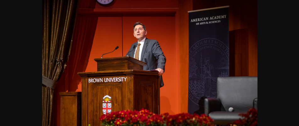 Michael Botticelli speaking at Brown University