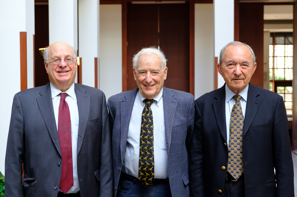 Judge Mark L. Wolf, Robert Rotberg, and Justice Richard Goldstone