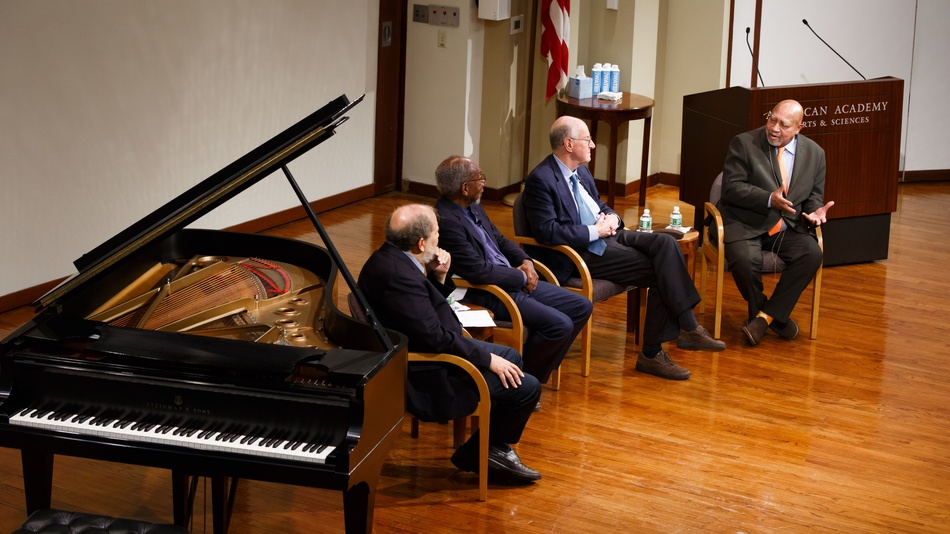 Eric Jackson, Felton Earls, William Damon, and Kenny Barron in conversation.