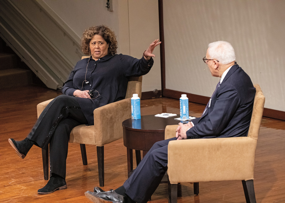 Anna Deavere Smith and David Rubenstein