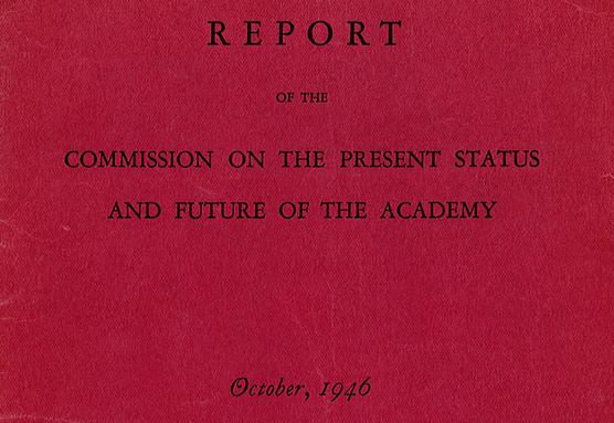 Report of the Commission on the Future of the Academy, 1946 (cover)