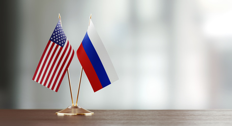 United States and Russia flag