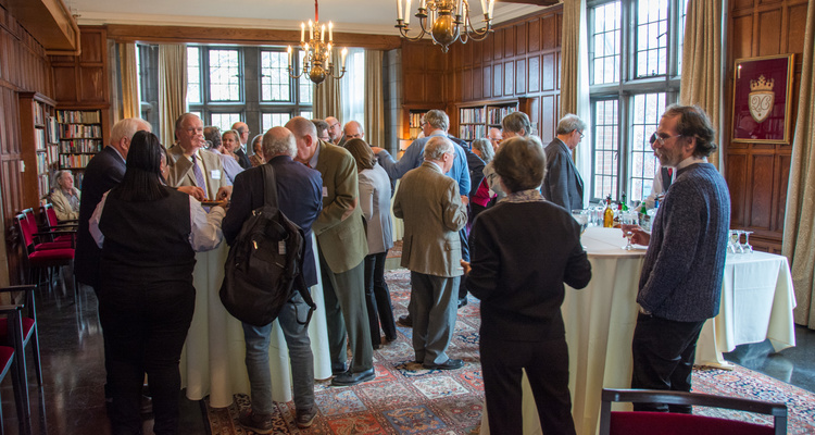 Academy members gather at a reception held in Chicago, IL.