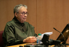 "Annie Proulx speaks at an Academy event, ""Writing into the Sunset,"" held in Seattle, WA."