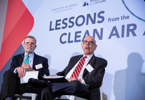 Former Representatives Phil Sharp and Henry Waxman discuss climate and energy policy