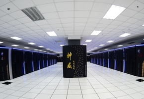 Image of the Sunway TaihuLight, a Chinese supercomputer.