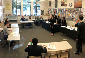 Students participate in the 2019 NorCal Mock Trial Tournament held at Menlo School.